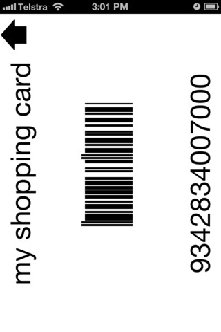 Display barcode screen