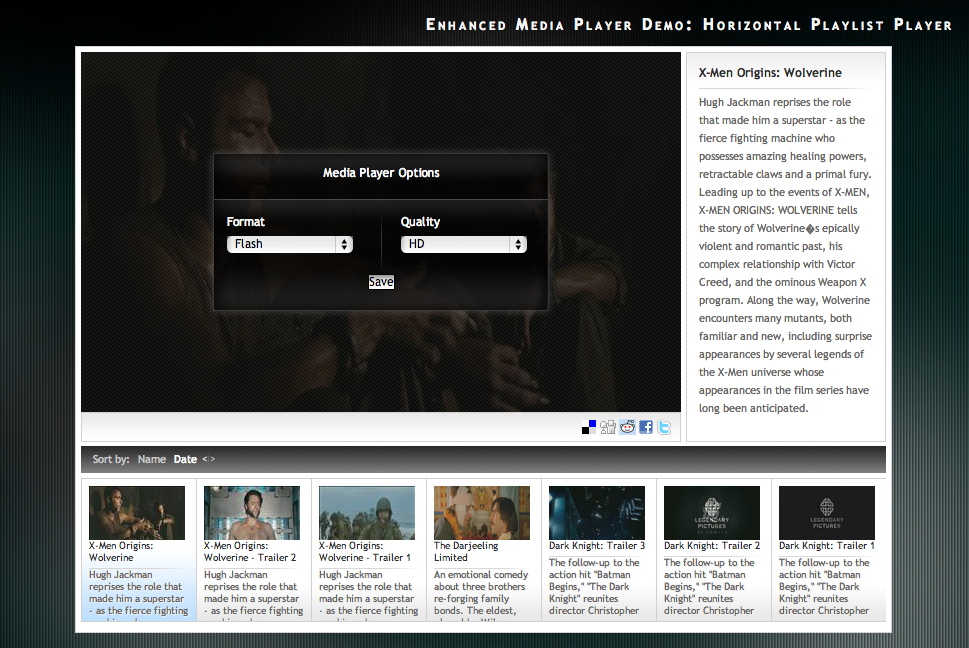 Viostream Enhanced Media Player screenshot